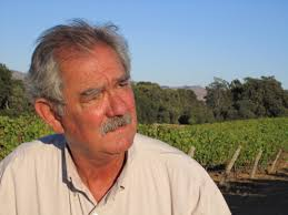 Larry Hyde in front of his Hyde Vineyard