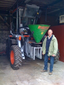 Michel Gros and his very custom tractor