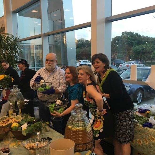 Team Green Sangria with our Judges' Choice and People's Choice trophy Sangria bowls: Bear Dalton, Carol Dalton, Deborah Touchy, and Joan Sokol
